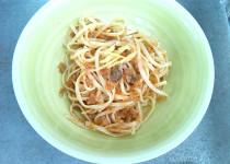 Trenette aglio, olio evo e limone