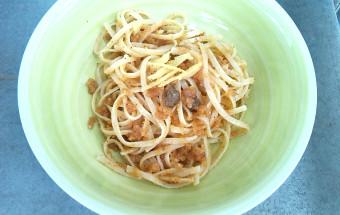 trenette con aglio olio e limone